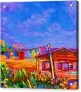 The Clothesline Acrylic Print