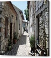 The Cobbled Back Streets Surrounding Old Marmaris Acrylic Print