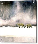 The Cold Walk Acrylic Print