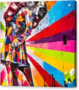 The Colorful Kiss Acrylic Print