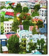 The Colors Of Reykjavik Acrylic Print