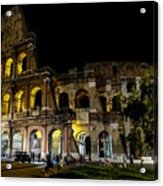 The Colosseum In Rome At Night Acrylic Print