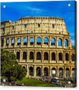 The Colosseum In Rome Italy Acrylic Print
