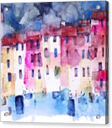 The Coloured Houses Of Portofino Acrylic Print