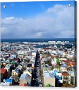 The Colours Of Reykjavik Acrylic Print