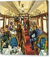 The Comfort Of The Pullman Coach Of A Victorian Passenger Train Acrylic Print