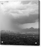 The Coming Storm Black And White Acrylic Print