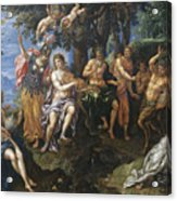 The Contest Between Apollo And Pan, 1600 Acrylic Print