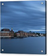 ...the Coolness Of Portsmouth...blue Hour... Acrylic Print