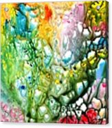 The coral abstract painting  Acrylic Print