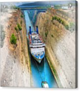 The Corinth Canal  Acrylic Print