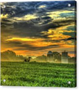 The Cornfield Dawn The Iron Horse Collection Art  Acrylic Print