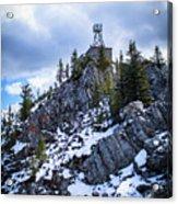 The Cosmic Ray Station Atop Sulphur Mountain, Banff, Canada Acrylic Print
