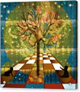 The Cosmic Tree Acrylic Print by Sydne Archambault