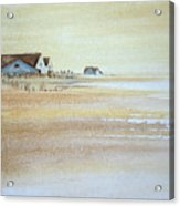 the cottages on BH Island Acrylic Print by Amy Bernays