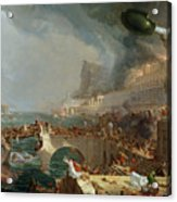 The Course Of Empire - Destruction Acrylic Print by Thomas Cole