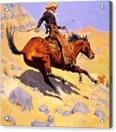 The Cowboy 1902 Acrylic Print