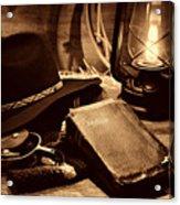 The Cowboy Bible Acrylic Print