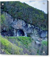 The Craggy Pinnacle Tunnel On The Blue Ridge Parkway In North Ca Acrylic Print