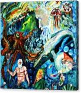 The Creation Of The Ocean Acrylic Print