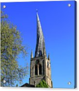 The Crooked Spire Of St Mary And All Saints Church, Chesterfield Acrylic Print