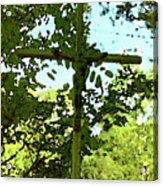 The Cross In Nature Acrylic Print