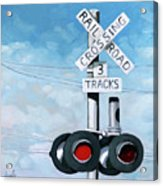 The Crossing - Train Signals Acrylic Print