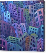 The Crowded City Acrylic Print
