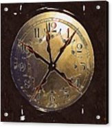 The Crucifixion Of Time Acrylic Print