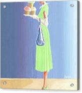 The Cupcake Lady Acrylic Print