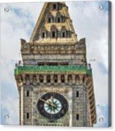 The Customs House Clock Tower Boston Acrylic Print