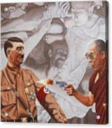 The Dalai Lama Shoots Adolph Hitler Acrylic Print