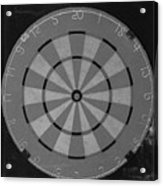 The Dart Board In Black And White Acrylic Print