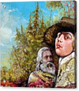 The Dauphin And Captain Nemo Discovering Bogomils Island Acrylic Print