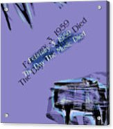 The Day The Music Died - Feb 3 1959 Acrylic Print