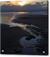 The Days Last Rays At Dunraven Bay Wales Acrylic Print