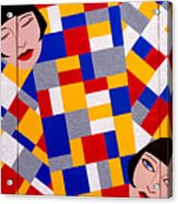 The De Stijl Dolls Acrylic Print