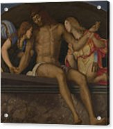 The Dead Christ With Angels Acrylic Print