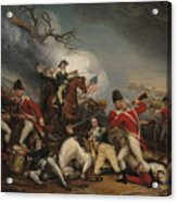 The Death Of General Mercer At The Battle Of Princeton, January 3, 1777  Acrylic Print