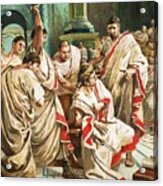 The Death Of Julius Caesar  Acrylic Print