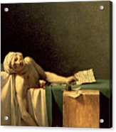 The Death Of Marat Acrylic Print