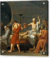 The Death Of Socrates Acrylic Print