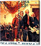 The Declaration Of Independence  Acrylic Print by Lanjee Chee