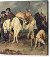 The Deerstalkers Return Acrylic Print by Sir Edwin Landseer