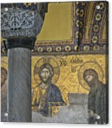 The Deesis Mosaic With Christ As Ruler At Hagia Sophia Acrylic Print by Ayhan Altun