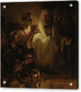 The Denial Of St Peter Acrylic Print