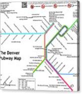 The Denver Pubway Map Acrylic Print
