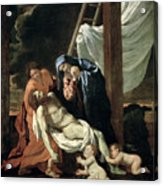 The Deposition Acrylic Print by Nicolas Poussin