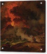 The Destruction Of Pompeii Acrylic Print
