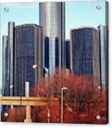The Detroit Renaissance Center Acrylic Print by Gordon Dean II